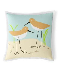 Hable Sandpipers Canvas Pillow Cover