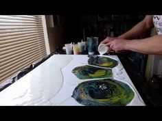 Acrylic Fluid Pouring,Got To Experiment Even If It Bombs :-) - YouTube