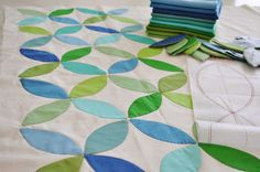 Very simple method of making this melon quilt