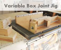 This box joint jig is really cool since it enables you to cut different sized box joints using a single blade. It's relatively easy to put together and it works r...