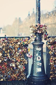 Love Lock Bridge, Paris which I hate. They are destroying Paris! Pont Paris, Paris 3, I Love Paris, The Places Youll Go, Places To See, Fotografia Pb, Paris Travel, City Lights, Belle Photo