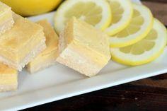 Maria Mind Body Health   low carb lemon bars, gluten free lemon bars, sugar free lemon bars ---> http://tipsalud.com