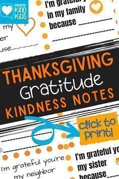 Help your kids focus on why they're grateful for the people in their lives with these Gratitude Kindness Notes from Coffee and Carpool your kids can write. Grab these fun kindness ideas and enjoy each other. Kindness Notes, Kindness Ideas, Kindness Activities, Fun Activities, Boredom Busters For Kids, Kindness Challenge, Thanksgiving Traditions, Thanksgiving Holiday, Autumn Activities For Kids
