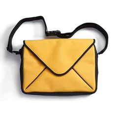 Message Bag Small Yellow now featured on Fab.