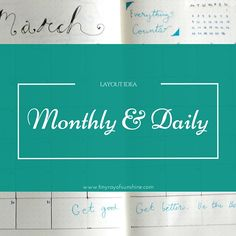 This time we're going go over the standard method for the Bullet Journal  that Ryder Carroll gives i.e. the monthly and daily views. There's a clear  difference between the monthly and daily method versus the layouts that  achieve this. We will look into different layouts that will achieve a  similar purpose as the standard layout.