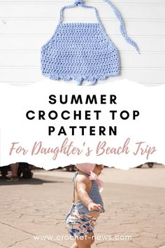 crochet for money Look forward to a whole day at the beach with the family and make this Summer Crochet Top Pattern for your little daughter! Quick Crochet, Crochet Bebe, Crochet For Kids, Free Crochet, Crochet Crafts, Crochet Summer Tops, Crochet Crop Top, Baby Patterns, Crochet Patterns