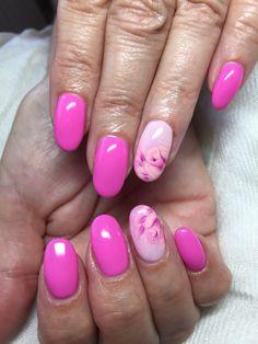 Pink one stroke rose