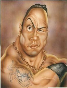 Caricatures - Dwayne 'The Rock' Johnson (WWE) - 2