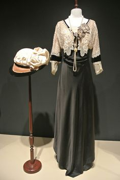 Beautiful Edwardian hat and gown.
