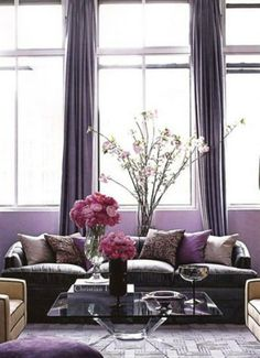 Radiant Orchid Interiors Inspired by Pantone's 2014 Color of the Year | The Vivant