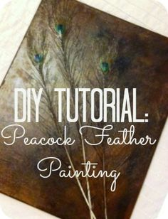 2MESSY: DIY ~ Peacock Feather Art