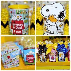 Adoro  esse tema Snoopy para festas de aniversário  que @ateliedetalhes criou como lembrancinhas ...