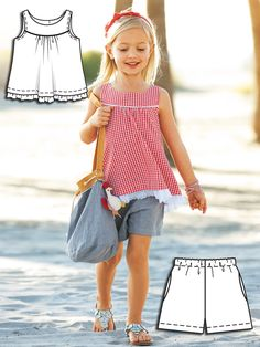 Gingham Girls: 9 New Children's Sewing Patterns - kids patterns - Toddler Dress, Toddler Outfits, Baby Dress, Kids Outfits, Sewing Kids Clothes, Sewing For Kids, Baby Sewing, Barbie Clothes, Couture Bb