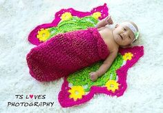 Butterfly Baby - $5.50 by Tanya Naser of Hodge Podge Crochet  Butterflies - Animal Crochet Pattern Round Up - Rebeckah's Treasures