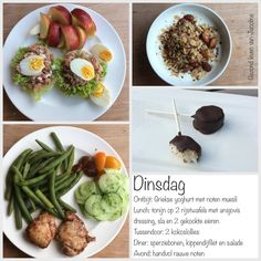 Dag menu: puur, bewust, gezond! Sugar Detox, Muesli, I Love Food, Lchf, Paleo, Low Carb, Menu, Eggs, Breakfast
