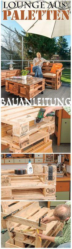 möbel aus paletten bauen - anleitung | pallets,