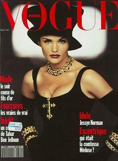 Helena Christensen  -  Vogue Paris November 1992 by Max Vadukul