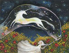 Bubble by Skylite-compass Real Unicorn, The Last Unicorn, Unicorn Art, Illustrations, Illustration Art, Art Magique, Unicorns, Fairytale Art, All Nature