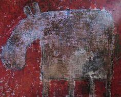 Horse (130x160 cm). Oil on Canvas. Torben Gammelgaard Danish Artist