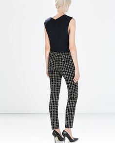 ZARA - WOMAN - PRINTED LEGGINGS WITH SIDE ZIP