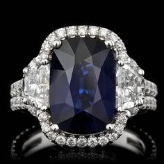 Diamond Rings For Women. Find fine jewelry for that love of your life Blue Sapphire Rings, Sapphire Jewelry, Sapphire Gemstone, Diamond Jewelry, Jewelry Rings, Gemstone Rings, Sapphire Diamond, Gold Jewelry, Fine Jewelry