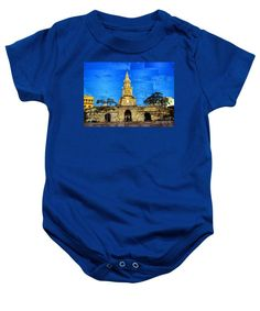 Baby Onesie - The Gate And Clock Tower In Cartagena Colombia