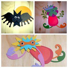 Paper crafts. Using your scraps to create fun creatures.