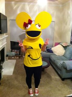 how to build your own deadmau5 mouse head helmet - Deadmau5 Halloween Head