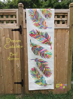 Dream Catcher Bed Runner Pattern from Glorious Color. Kaffe Fassett Collective fabrics by Kaffe, Brandon Mably and Philip Jacobs. Books and kits by Kaffe Fassett and Liza Prior Lucy and friends. Quilt Block Patterns, Applique Patterns, Applique Quilts, Dream Catcher Bedding, Quilt Inspiration, Dream Catcher Patterns, String Quilts, Bed Runner, Quilted Table Runners