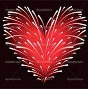 Firework Red Heart ♥ ♥♥♥♥ ❤ ❥❤ ❥❤ ❥♥♥♥♥