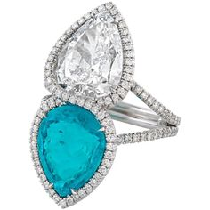 For Sale on - An exquisite Paraiba tourmaline displays its brilliant aqua color in this contemporary ring. Paraiba tourmalines are among the most exciting Sea Glass Jewelry, Fine Jewelry, Jewelry Rings, Jewelry Box, Platinum Diamond Rings, Diamond Jewellery, Bridesmaid Earrings, Vintage Engagement Rings, White Gold Rings