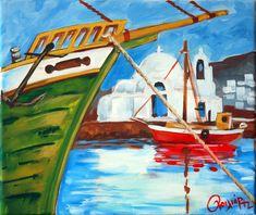 harbour acrylic on canvas