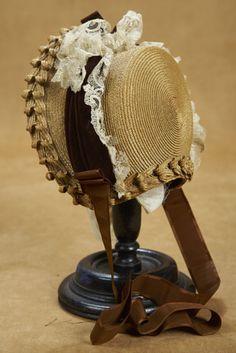 Fancy Woven Sun Bonnet 200/400 Victorian Hats, Edwardian Era, Antique Clothing, Historical Clothing, Ww Girl, Bonnet Hat, Fascinator Hats, Fascinators, Hat Hairstyles