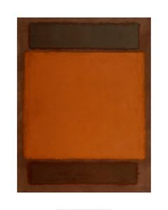 Mark Rothko - Orange, Brown, 1963 - Art Prints from the Detroit Institute of Arts