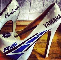 Yamaha heels for the hot Moto girls