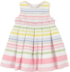 baby stripe dress | Mayoral Baby Girls Pastel Striped Dress