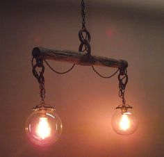 Handmade Horse yoke hanging light by UpWrightConcepts on Etsy, $375.00