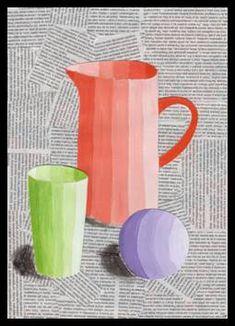 Zátiší – kombinovaná technika – Education is important Kindergarten Art Lessons, Art Lessons For Kids, Art For Kids, Middle School Art Projects, High School Art, Value In Art, Easy Canvas Art, 6th Grade Art, Art Curriculum
