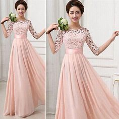 Formal Women Bridesmaid Ball Prom Gown Evening Party Cocktail Long Maxi Dress