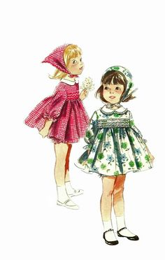 1960s Butterick 3693 Girls Dress Scarf  and Panties vintage sewing pattern by mbchills