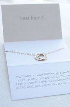 06b7f55de682 Best friend necklace - lighthearted friendship necklace Pulseras