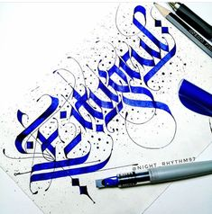 Calligraphy Alphabet, Caligraphy, Arabic Calligraphy, Beautiful Fonts, Black Letter, Hand Lettering, Gothic, English, Writing