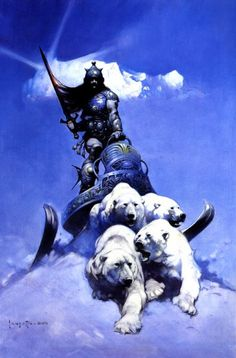 "A fantastic poster of incredible fantasy art by the legendary Frank Frazetta - ""Silver Warrior""! Check out the rest of our excellent selection of Frank Frazetta posters! Need Poster Mounts. Arte Sci Fi, Sci Fi Art, Frank Frazetta, Comic Book Artists, Comic Books Art, Comic Art, Sci Fi Kunst, Comic Kunst, Fantasy Artwork"