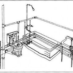 This rough-in plumbing diagram shows exactly what the