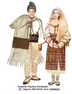 Costumul popular vrancean Traditional Dresses, Traditional Art, Folk Costume, Costumes, Gorilla Suit, Young Frankenstein, Folk Embroidery, Moldova, European History