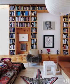 Bookcase with space for art.