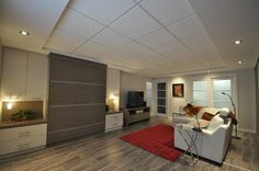 My Home Remodeling Exposed Basement Ceiling, Basement Shelving, Basement Layout, Basement Stairs, Resin Patio Furniture, Room Wanted, Basement Bar Designs, Stair Storage, Basement Remodeling