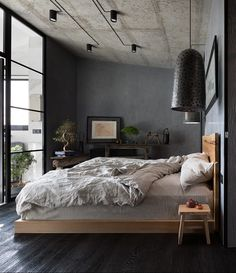 Bedroom via - Architecture and Home Decor - Bedroom - Bathroom - Kitchen And Living Room Interior Design Decorating Ideas - Loft Interior Design, Home Interior, Home Design, Design Ideas, Floor Design, Luxury Interior, Bedroom Colors, Home Decor Bedroom, Design Bedroom