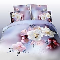 Tina Flower Thicken Three Dimensional Floral Print 4 Pcs Set Beddings - EUR € 27.50
