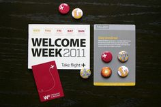 Welcome week collateral by Kara Kilmer, via Behance